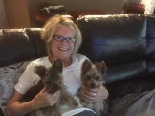 Georgie with Nicky & Teddy in Georgetown, TX