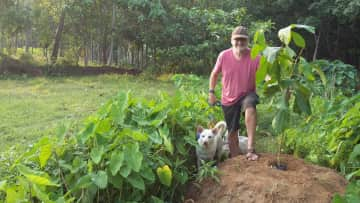 Bobby and me in Kerala, India