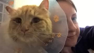 Me and my cat Heston.