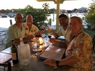 Friends in Antigua.
