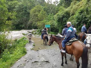 Me horsebackriding in Colombia