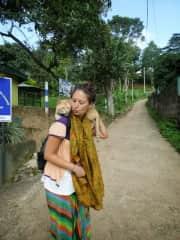 cat umped on me in Sri Lanka!