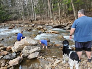 Playing at the creek.