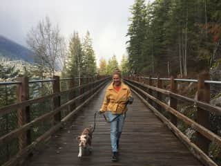 Taking Hank for a walk
