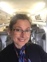 Denise welcoming passengers