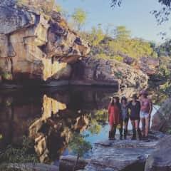 Hiking with friend in Kakadu