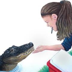 I train alligators, this is my alligator at work, Alley