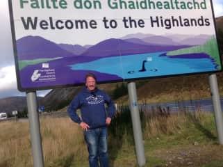 Steve heading into the Scottish Highlands.