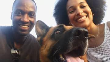 With Tiago the German Shepherd