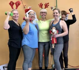 Having a bit of festive fun at the gym