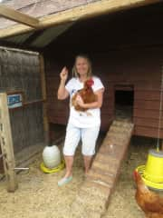 The chooks lay 5 eggs a day !