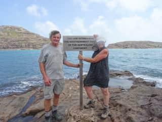 Edward and Gail at Cape York