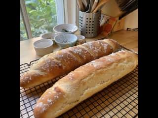 I love to bake bread.