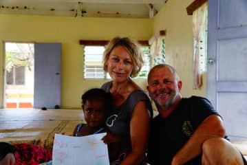 An adventure sailing to a remote island in Fiji
