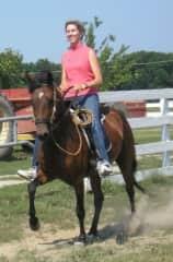 Marie loves horses