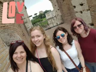 Rome, with my daughters (2016)