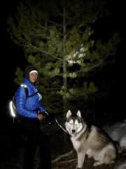 Moon hike with Achak in Vail, Colorado~