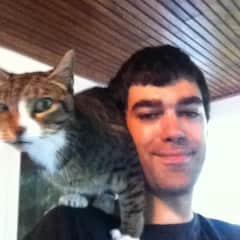 Me with my cat Ellie.