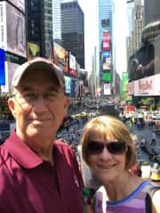 Bev and I in Times Square