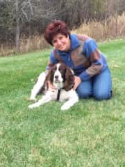 Me and my  Kasey.  She passed away in 2015.