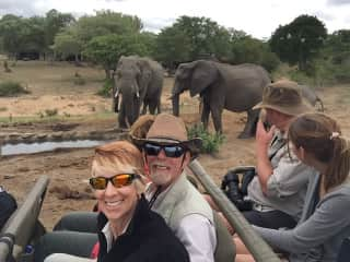 Up close and personal in Africa.  This was after a housesit in Botswana.