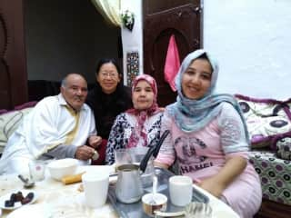 I was in Fez, Morroco with local family