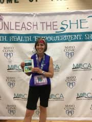 Susan at the awards ceremony of 10K race