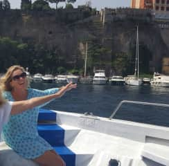 Me on a Boat on the Amalfi Cst