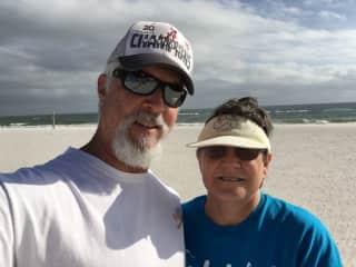 Rick & Teresa at Gulf Shores, AL