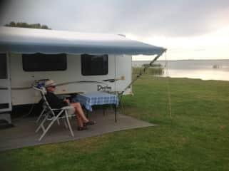 Relaxing at a Lake Meningie, South Australia