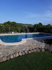 Pool maintenance in Andalucia, Spain.