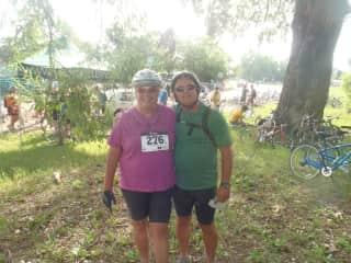 Mike & Linda at a fun bike race