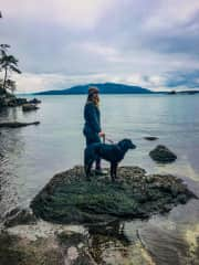 My dog Zula and I enjoying our home in the PNW!