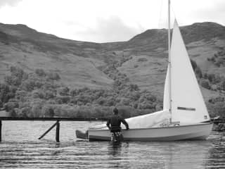 Andy out for a sail