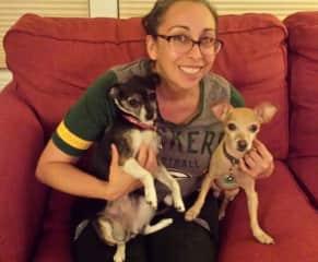 Meeting my friend's pups