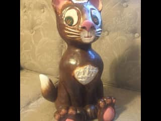 recent cat bank I made.  I try to still play with clay when I can.