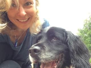 Me and my beautiful English Springer Spaniel, Sadie. Sadly, Sadie died summer 2020, aged 16.