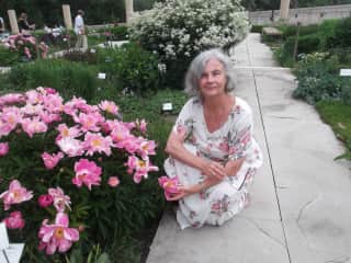 Me outside the Stratford Ontario Shakespeare Festival Theatre in Canada