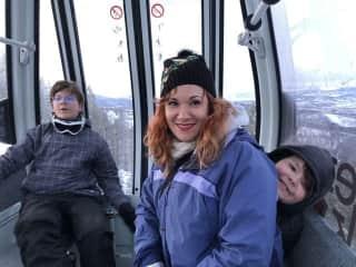 On the gondola with my boys