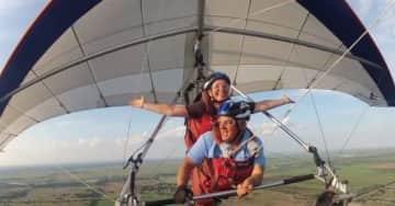 Pamela hang gliding in Florida! Life is so worth overcoming our fears and making each moment count!