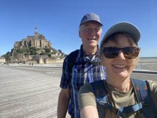 Kathy and Mark at Mont Saint Michel - June 2020