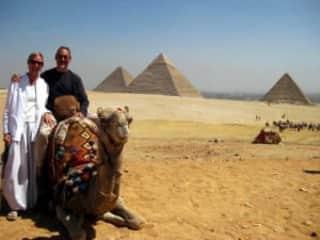 At Egypt's Giza Pyramids