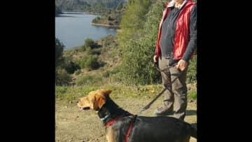 Dylan on a walk around Lefkara dam.