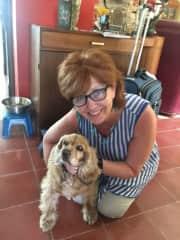 Brownie with Doreen, Ajijic, Mexico, May, 2017