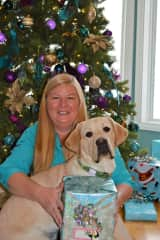Charlene with our grand-puppy Rascal