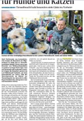 Newspaper article about the flea market I organize to make money for the local animal shelter