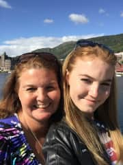 My daughter and I in Italy.