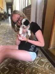 Tiny puppy in a guesthouse in Argentina!