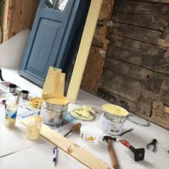 Painting our old Swedish farmhouse