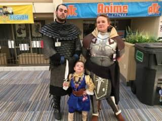 Michael, Jamie and Arya Spaulding - Dressed as our favorite characters